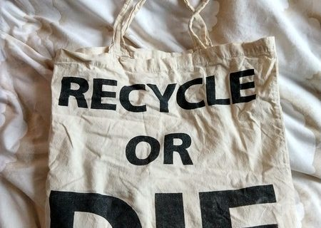 Cotton recycle or die bag